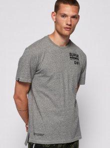 Šedé pánské tričko s potiskem Superdry - S
