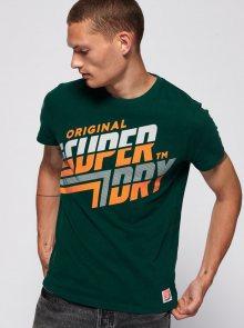 Zelené pánské tričko s potiskem Superdry - S