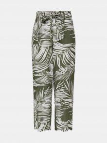 Khaki vzorované kalhoty ONLY Augustina - XS