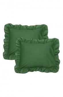 Povlak na polštář 2 Pack / tm. zelená