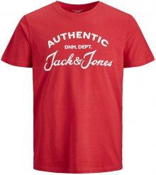 Jack&Jones Pánské triko JJHERO TEE 12175078 Tango Red S