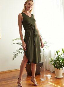 Khaki šaty Trendyol