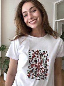 Bílé tričko s potiskem Trendyol