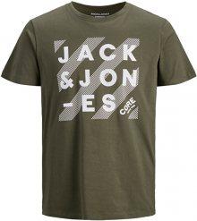 Jack&Jones Pánské triko JJHERO TEE 12175078 Forest Night S