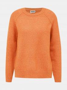 Oranžový svetr s rozparkem Noisy May Mariana - S