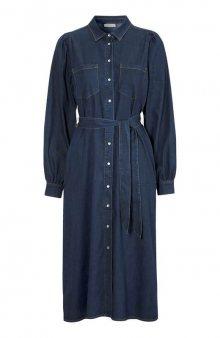 Džínové šaty Malou / tm. modrá