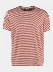 Bílo-oranžové pánské pruhované tričko Haily´s