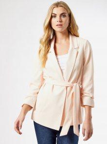 Světle růžové sako se zavazováním Dorothy Perkins - XS