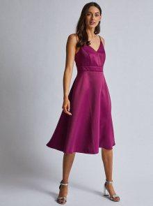Fialové šaty na ramínkách Dorothy Perkins - S
