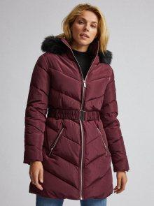 Vínový prošívaný zimní kabát Dorothy Perkins  - XS