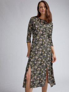 Khaki vzorované šaty Dorothy Perkins  - XS