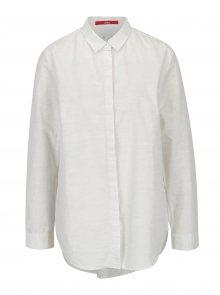 Krémová dámská žíhaná košile s.Oliver