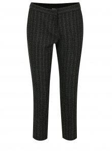 Černé vzorované zkrácené kalhoty Dorothy Perkins Petite