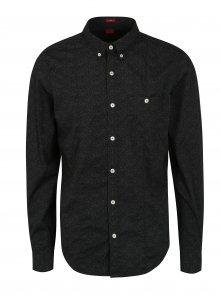 Černá pánská vzorovaná slim fit košile s.Oliver