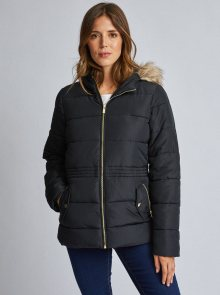 Černá prošívaná zimní bunda Dorothy Perkins - XS