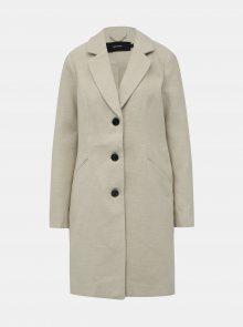 Krémový kabát VERO MODA Calacindy - S