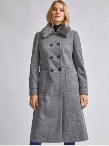 Šedý kabát Dorothy Perkins - XS