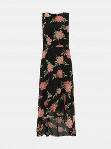 Černé květované šaty Dorothy Perkins - XS