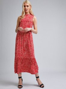 Červené květované midišaty Dorothy Perkins - M
