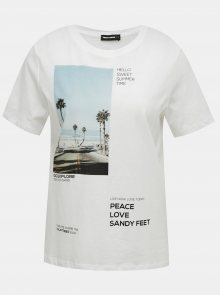 Bílé tričko s potiskem TALLY WEiJL - XS