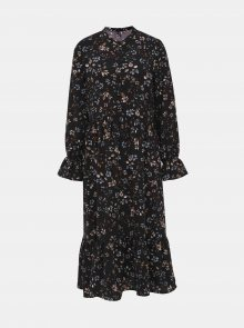 Černé květované midi šaty VERO MODA Myranda - XS