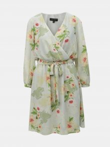 Světle zelené vzorované šaty Dorothy Perkins - M