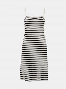 Bílo-černé pruhované šaty Noisy May Summer - S
