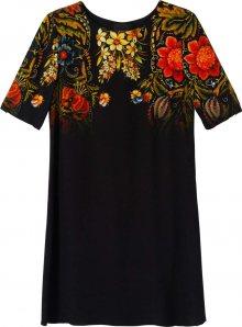 Desigual Šaty \'Vest Butterflower\' černá / mix barev
