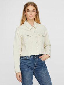 Krémová krátká džínová bunda VERO MODA Mikky - S