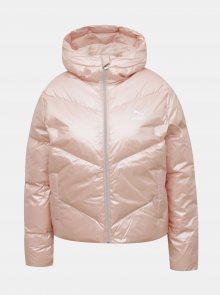 Růžová dámská prošívaná zimní bunda Puma - XS