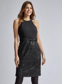 Černé pouzdrové šaty s flitry Dorothy Perkins - XS