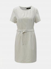 Bílé pruhované šaty s páskem VERO MODA Helena - L
