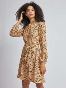 Světle hnědé vzorované šaty Dorothy Perkins - L