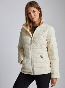Krémová prošívaná zimní bunda Dorothy Perkins - S