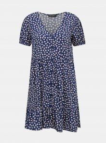 Modré květované šaty TALLY WEiJL - S