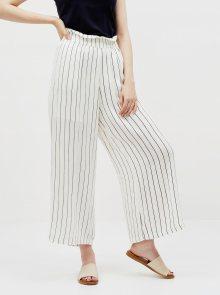 Krémové pruhované kalhoty Noisy May Fleur - XS