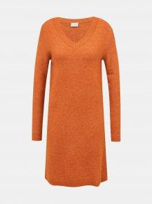 Oranžové svetrové šaty VILA - S