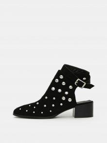 Černé kotníkové boty v semišové úpravě TALLY WEiJL - 36