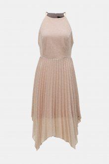 Starorůžové plisované šaty na ramínka Dorothy Perkins - L
