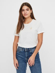 Bílé tričko VERO MODA Francis - XS