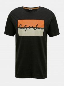 Černé tričko s potiskem ONLY & SONS Mono