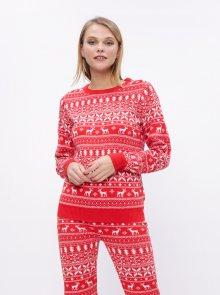 Červený svetr s vánočním motivem VILA Kosi  - XL