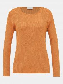 Oranžový basic svetr VILA Wendis - XS