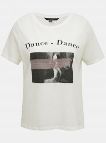 Bílé tričko s potiskem VERO MODA - M