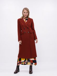 Hnědý kabát Dorothy Perkins - S