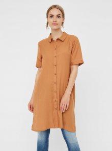Hnědé košilové šaty VERO MODA Chloe - M