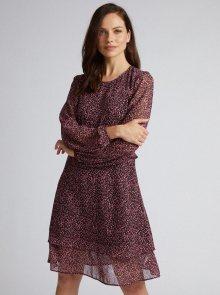 Fialové šaty s gepardím vzorem Dorothy Perkins  - XL