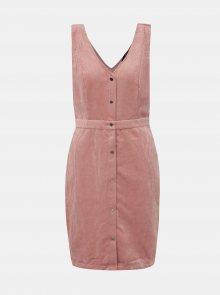 Růžové manšestrové šaty VERO MODA Ayoe - XS