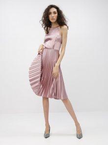 Růžové šaty s plisovanou sukní Dorothy Perkins - L