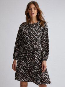 Černé vzorované šaty Dorothy Perkins - XS